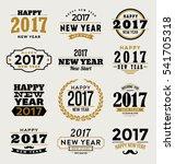 2017   happy new year  ... | Shutterstock .eps vector #541705318