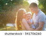 young family on a walk in the... | Shutterstock . vector #541706260