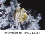 Gold Wedding Rings On The Ice...