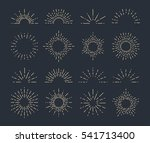set of vintage sunbursts in... | Shutterstock .eps vector #541713400