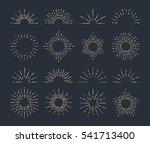 set of vintage sunbursts in... | Shutterstock .eps vector #541713400