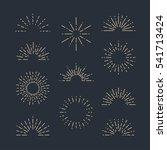 set of vintage sunbursts in... | Shutterstock .eps vector #541713424