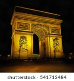 triumph arch at night time ... | Shutterstock . vector #541713484