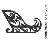 vector santa sleigh silhouette  ... | Shutterstock .eps vector #541719979