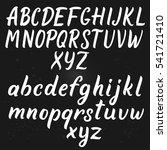 handwritten script font. hand... | Shutterstock .eps vector #541721410