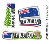 vector logo new zealand  3...   Shutterstock .eps vector #541723414