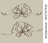 set hand drawn bows isolated on ...   Shutterstock .eps vector #541727410