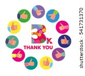 vector template 3k thanks... | Shutterstock .eps vector #541731370