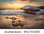 beach sunset   views around ... | Shutterstock . vector #541731430