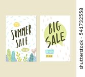 two sale templates. vector hand ... | Shutterstock .eps vector #541732558