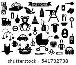 baby care supplies silhouettes  ...   Shutterstock .eps vector #541732738
