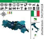 vector map of emilia romagna... | Shutterstock .eps vector #541734118
