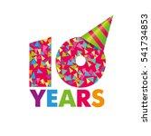 vector template birthday...   Shutterstock .eps vector #541734853