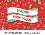 greeting card with trendy... | Shutterstock .eps vector #541735168