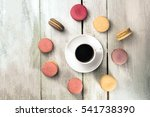 a photo of a cup of coffee with ... | Shutterstock . vector #541738390