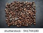 handful of roasted fragrant... | Shutterstock . vector #541744180