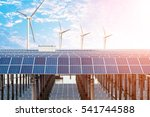 solar and wind power  clean... | Shutterstock . vector #541744588