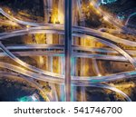 road traffic in city at... | Shutterstock . vector #541746700