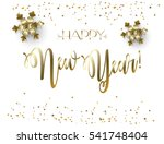 vector 2018 merry christmas and ... | Shutterstock .eps vector #541748404