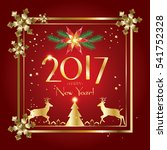 2017 vector merry christmas and ... | Shutterstock .eps vector #541752328