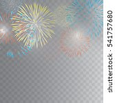 Colourful Fireworks Vector On...