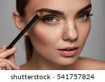 eyebrows shaping. portrait of...   Shutterstock . vector #541757824