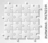 puzzle piece business... | Shutterstock .eps vector #541762144
