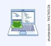 flat line illustration of... | Shutterstock .eps vector #541765126