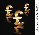 Metal Pound Symbol On A Black...