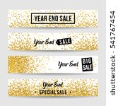 year end sale banner collection ...   Shutterstock .eps vector #541767454