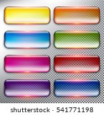 abstract vector web buttons set ... | Shutterstock .eps vector #541771198