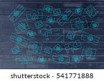 multitude of wrapped presents... | Shutterstock . vector #541771888