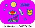 fashion patch badges. ufo set.... | Shutterstock .eps vector #541774234