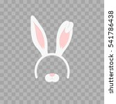 easter mask with rabbit ears... | Shutterstock .eps vector #541786438
