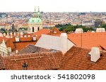 red roofs of prague | Shutterstock . vector #541802098