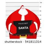mugshot santa claus at police... | Shutterstock .eps vector #541811314