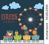 baby shower invitation card... | Shutterstock .eps vector #541813300