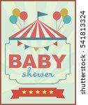baby shower invitation card... | Shutterstock .eps vector #541813324