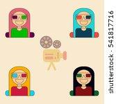 girl at movie vector... | Shutterstock .eps vector #541817716