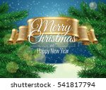 merry christmas background... | Shutterstock .eps vector #541817794