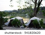 Small photo of 5 December 2016, NAFAS Cube, Serdang, Selangor, Malaysia - Tents with lake view,accommodation type available in Malaysian Agriculture Research and Development Institute's area to promote agro tourism.