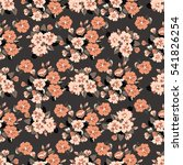 flowery cute pattern in small... | Shutterstock .eps vector #541826254
