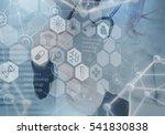 medicine doctor and virtual... | Shutterstock . vector #541830838