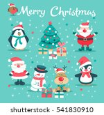 the christmas card with santa...   Shutterstock .eps vector #541830910