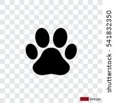 Stock vector paw print icon vector 541832350