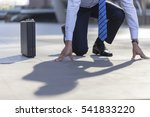 businessman starting position... | Shutterstock . vector #541833220
