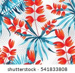 vector abstract watercolor... | Shutterstock .eps vector #541833808