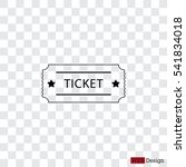 ticket icon. vector... | Shutterstock .eps vector #541834018