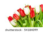 Beautiful Bouquet Of  Tulips On ...