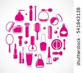 cosmetics icons  vector set | Shutterstock .eps vector #541843138